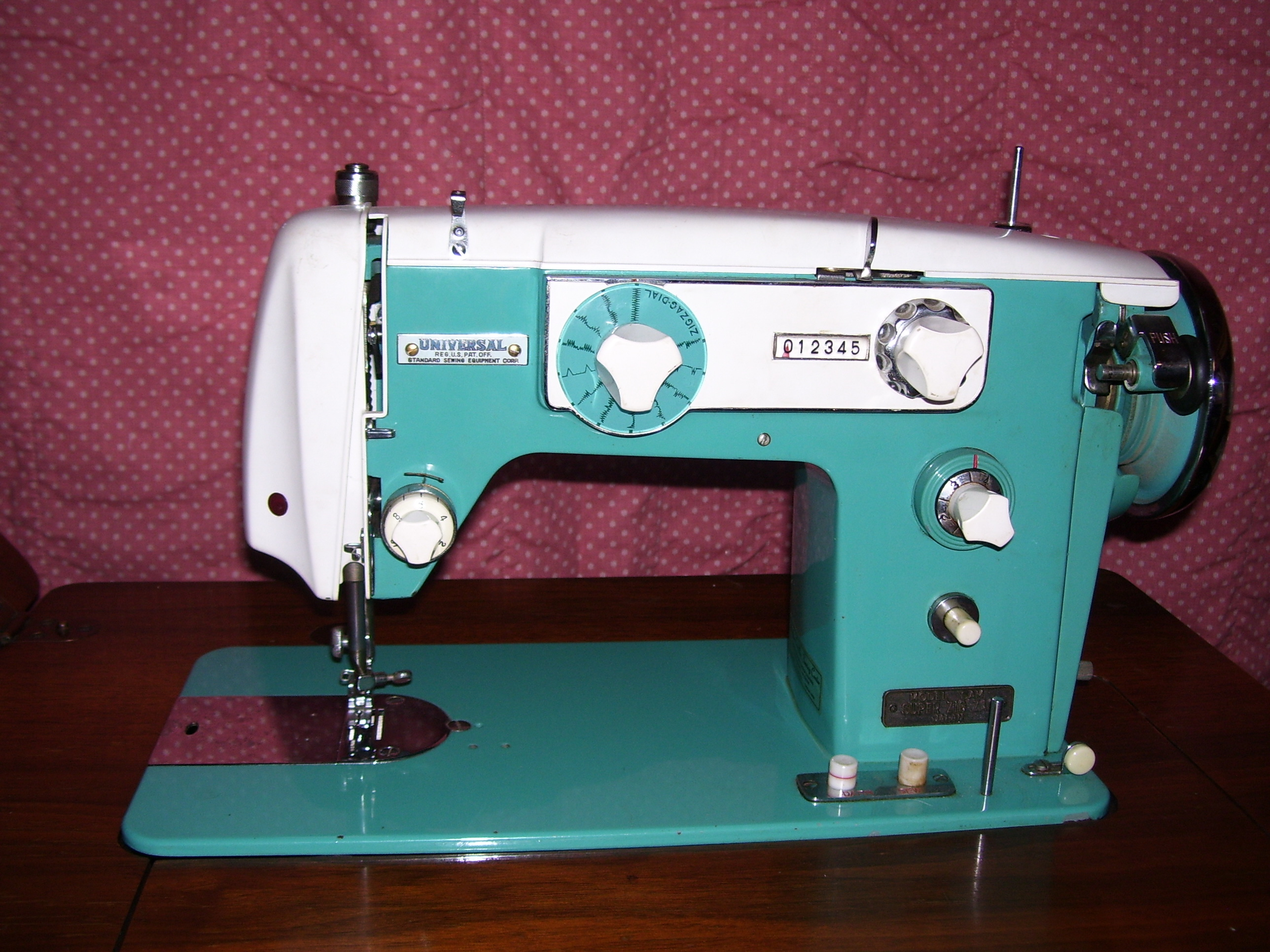 Vintage Japanese Badged Sewing Machine With Fancy