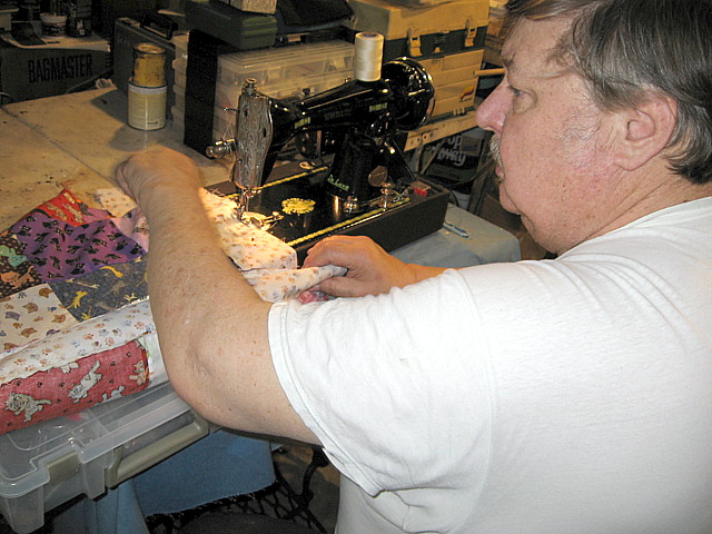 Name:  Joe piecing with HOTHER.JPG