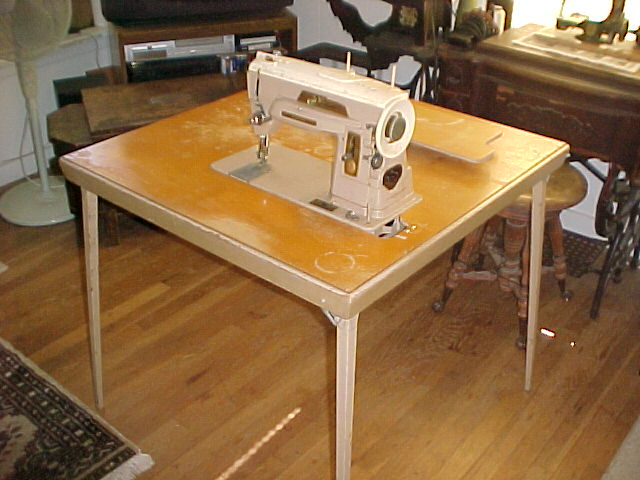 dating old photographs singer sewing machines table