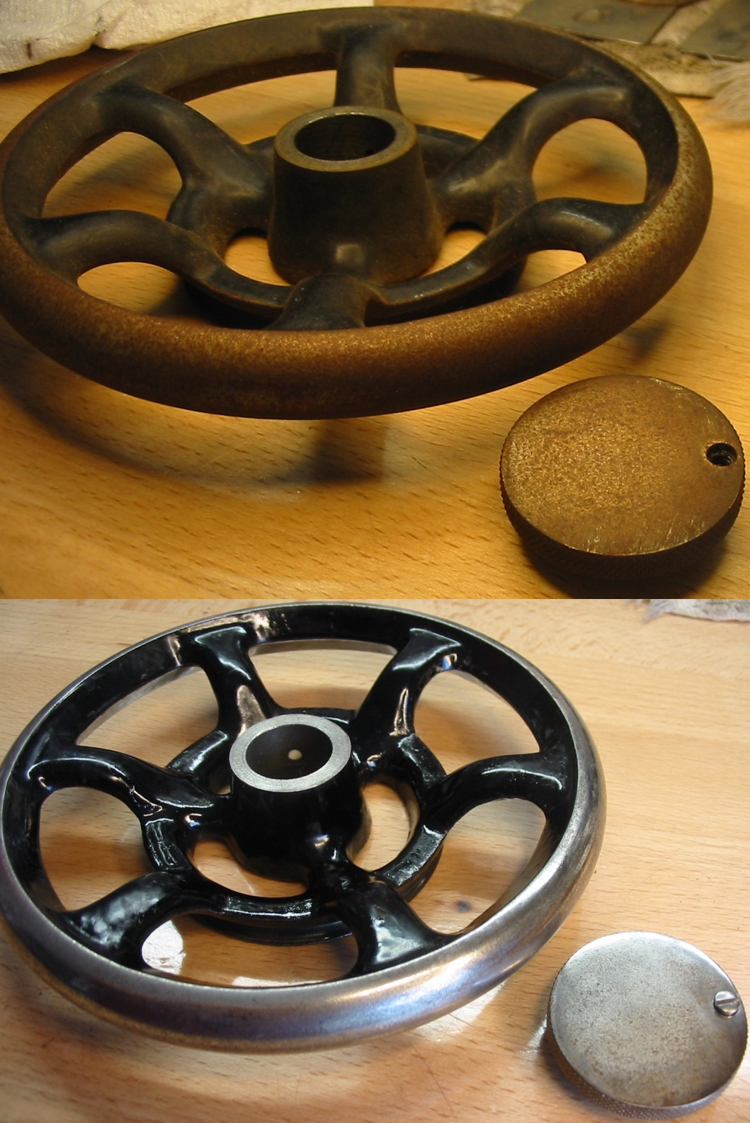 Name:  handwheel before and after.jpg